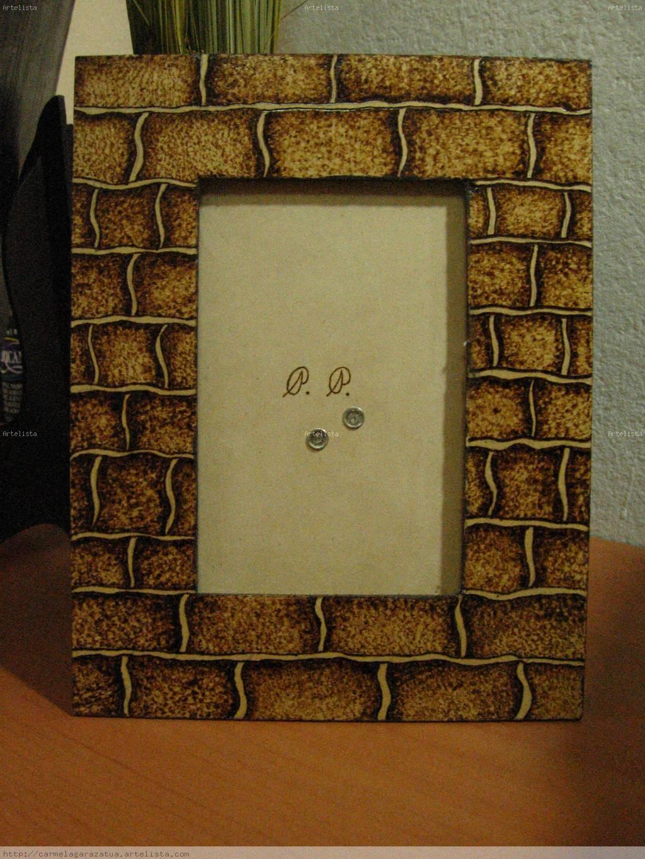 Decoraci n de portaretratos de madera imagui - Fotos en madera ...
