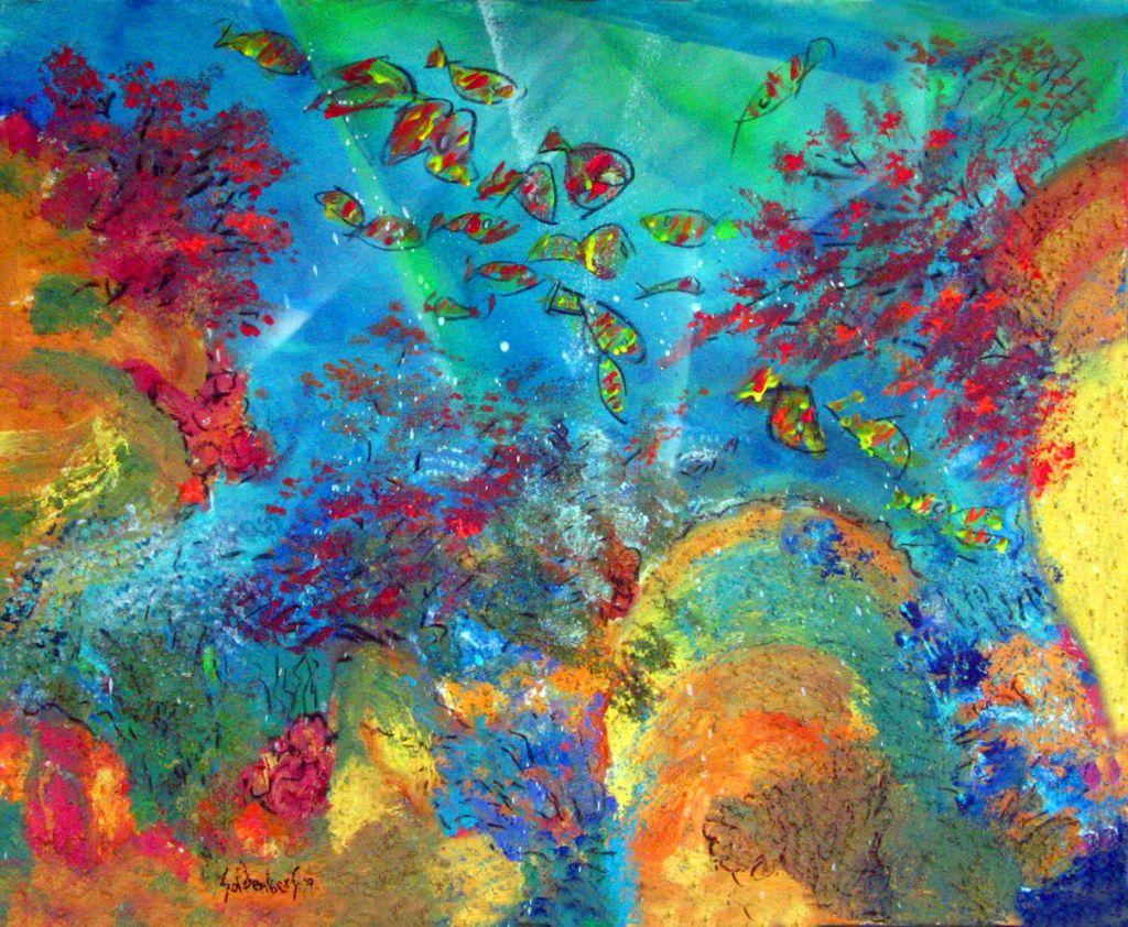 Corales y peces 2 pablo goldenberg for Cuadros con peces