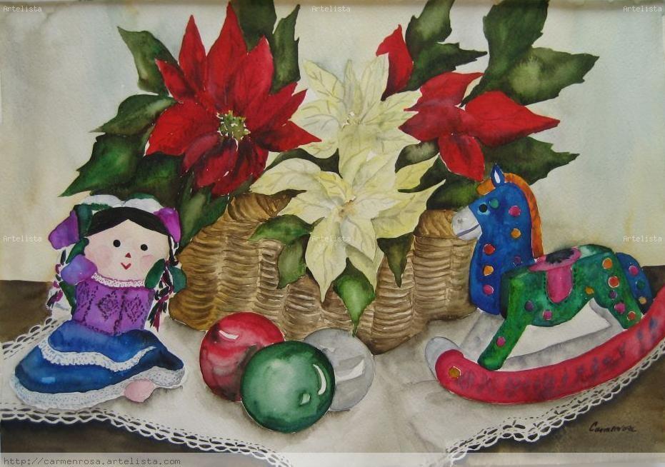 Navidad carmenrosa ram rez silva for Cuadros mexicanos rusticos