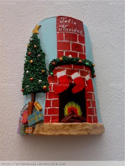 Teja chimenea de navidad inma garrido ramos - Chimeneas decoradas para navidad ...