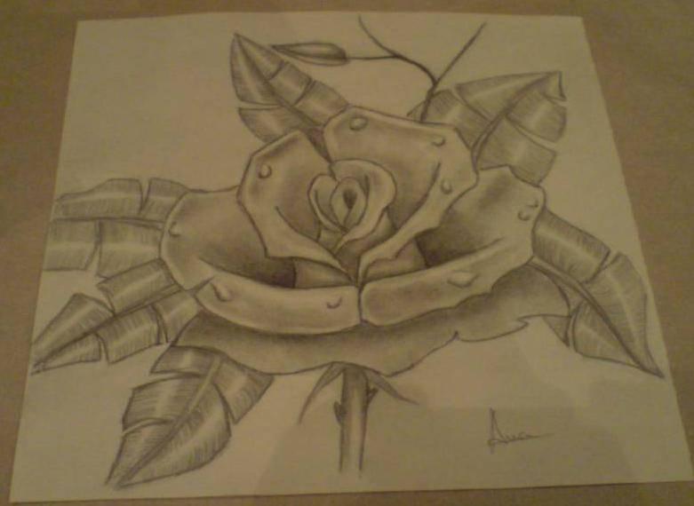 rosa de metal Ana Ocampo  Artelistacom