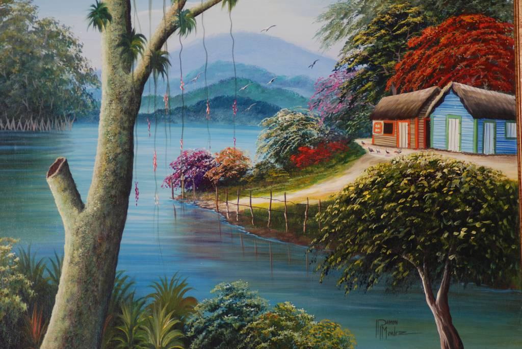 Del otro lado del rio ramon mendez garcia for Pinturas acrilicas para cuadros
