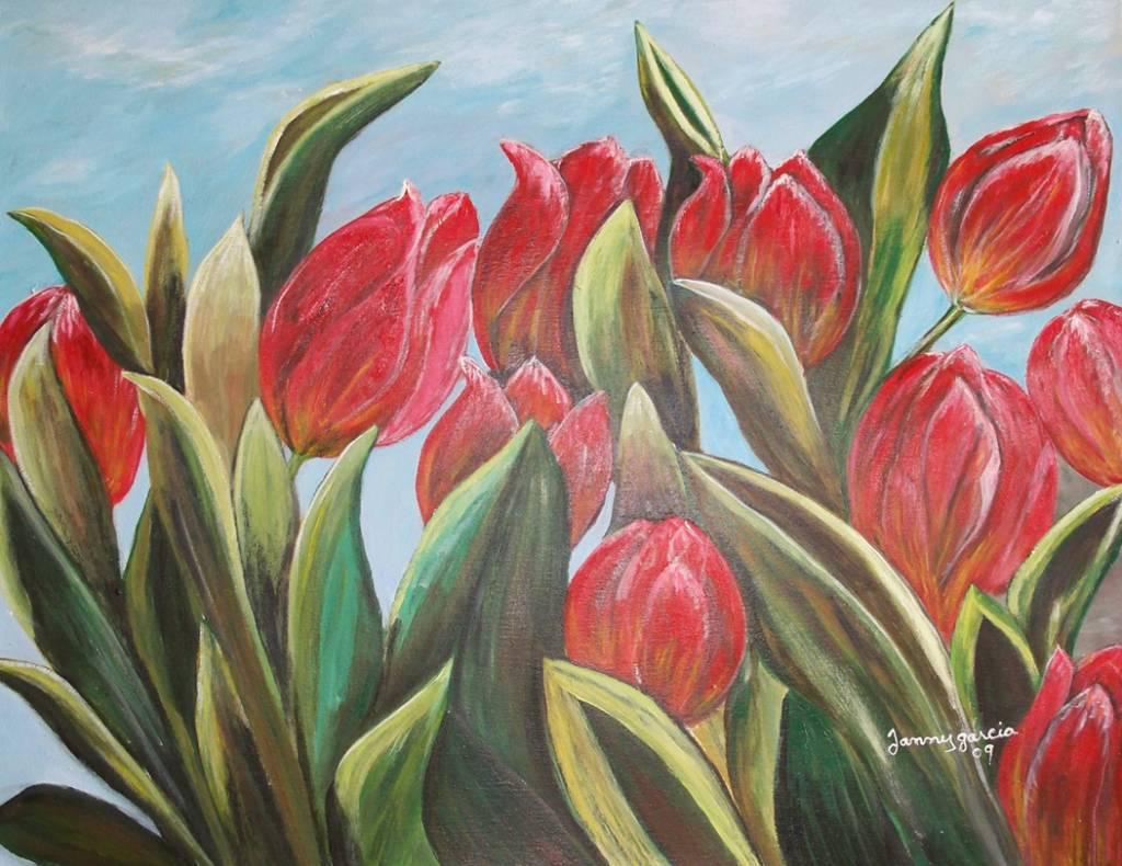 Sinfonia de tulipanes janny garcia liranzo for Fotos de cuadros abstractos sencillos