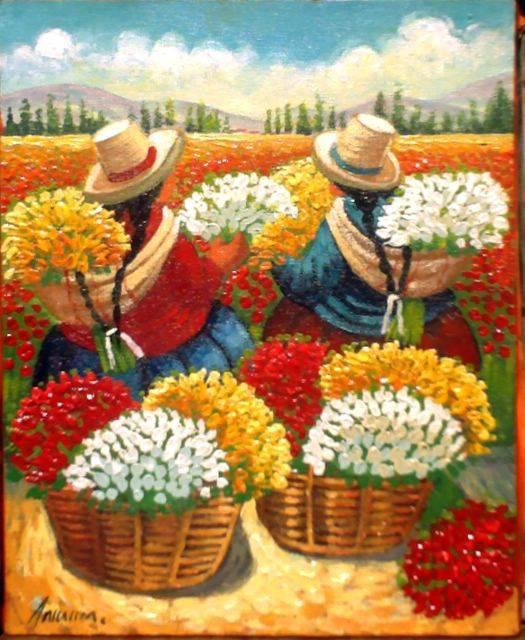 Floristas walter w anicama zamora for Comprar cuadros al oleo