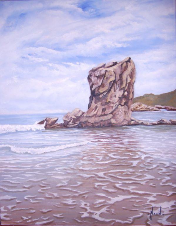 Playa de santa maria del mar asturias rosa maria noval - Pintores en asturias ...