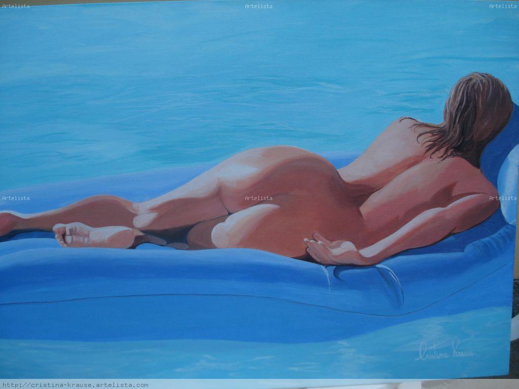 Mujer Flotando Cristina Krause Artelistacom