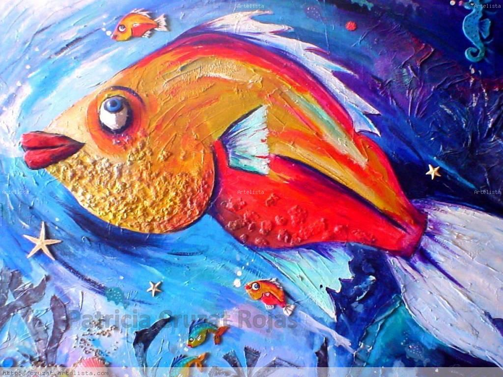 Pez mayor patricia cruzat rojas for Pintura para estanques de peces