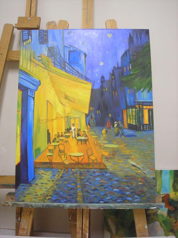 Copia De Van Gogh Terraza De Café Por La Noche Victoria