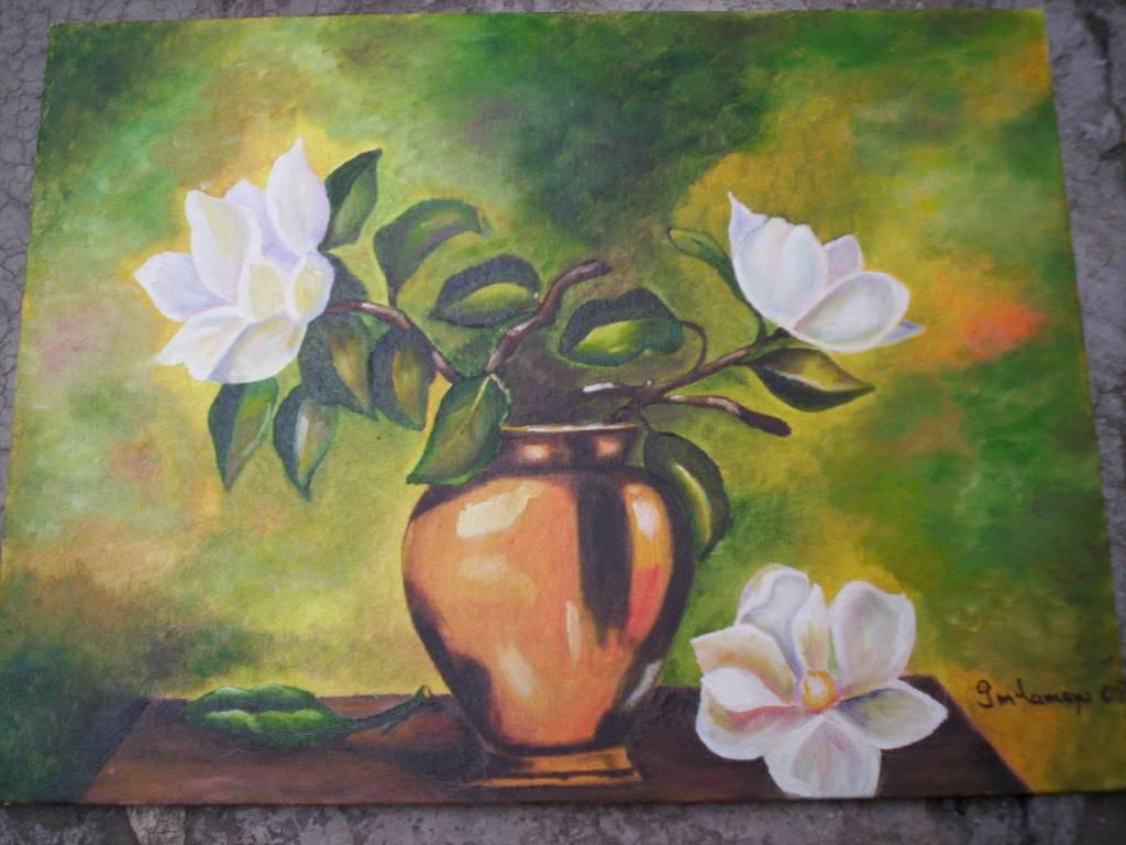 Jarr n con flores lupita murillo tamayo - Fotos jarrones con flores ...