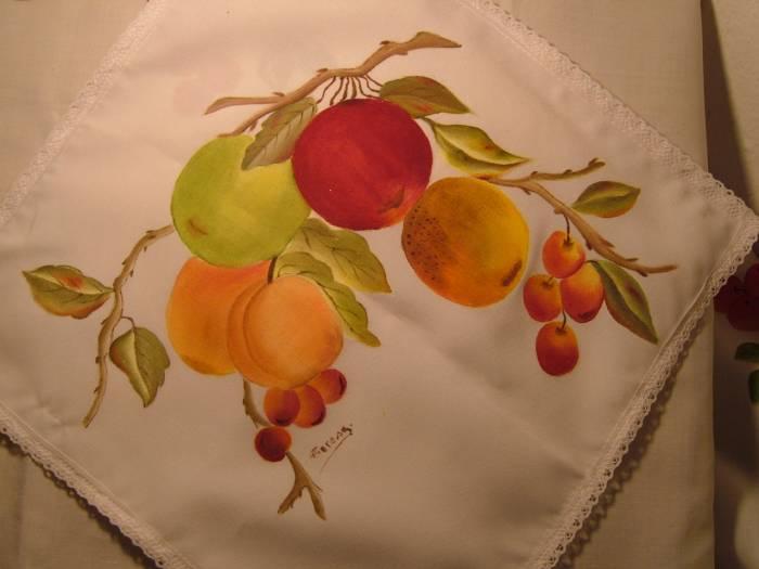 Como pintar en tela frutas imagui - Pintura en tela motivos navidenos ...