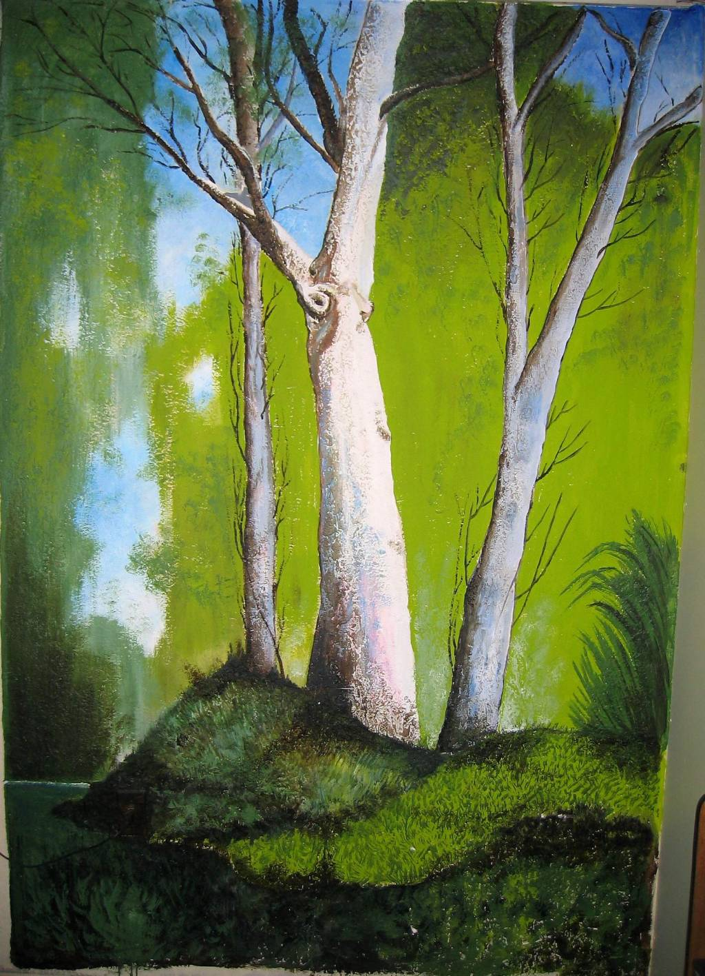 Mural paisaje ruben balbis fernandez for Murales de pared de paisajes