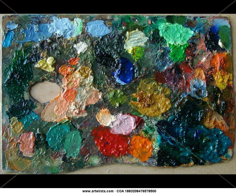 paleta, pintada,tablas,cuadros,pinturas.oleos,lienzos,tablas,marco ...