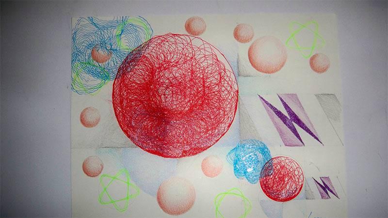 dibujo abstracto Luis Raul Vargas Laguren- Artelista.