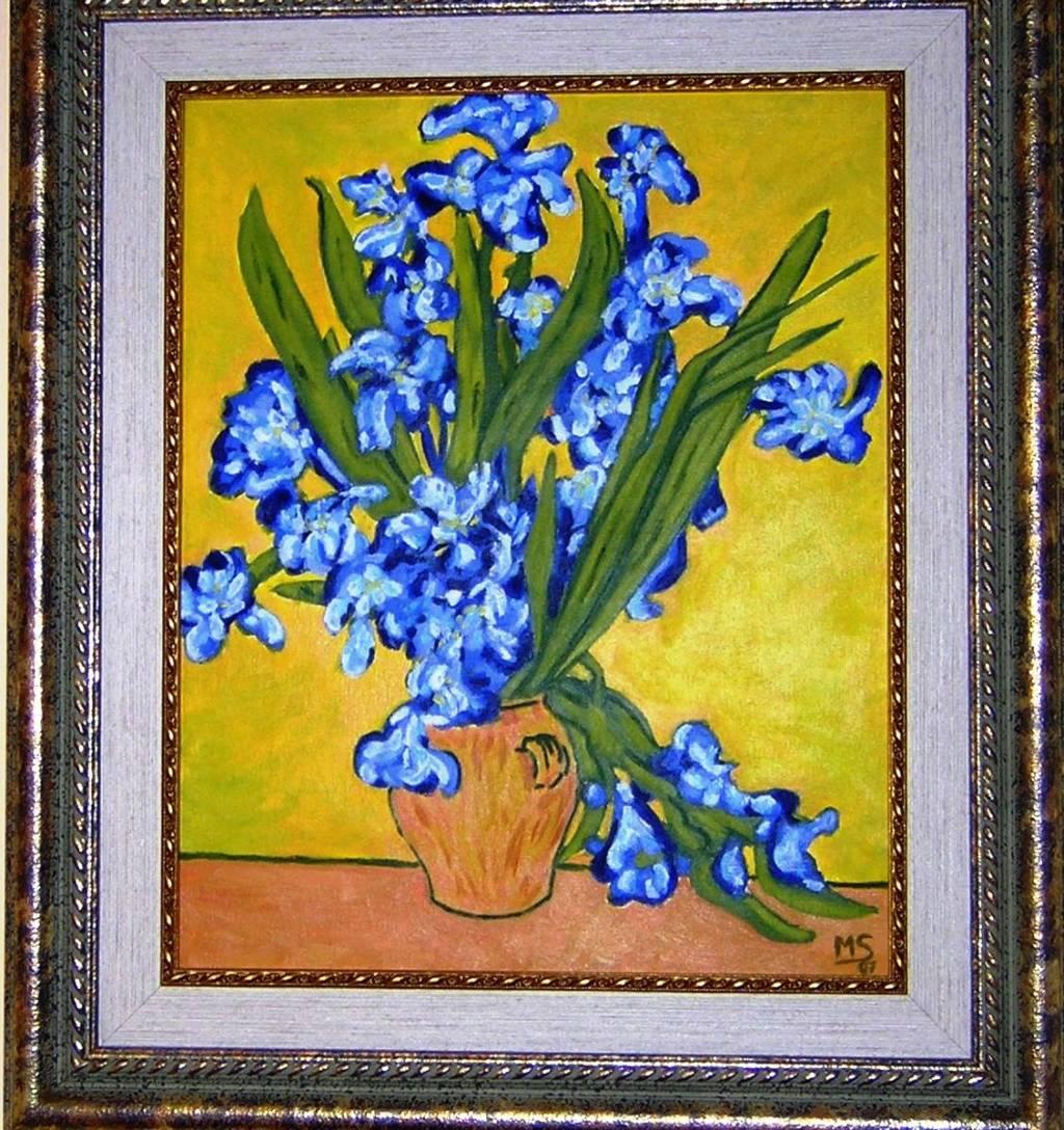 Copia De Los Lirios De Van Gogh Montserrat Sanz Garcia Artelista