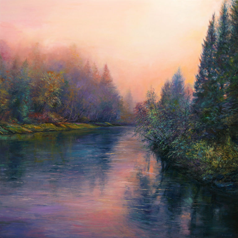 Romantic Landscape Panel Oil Landscaping