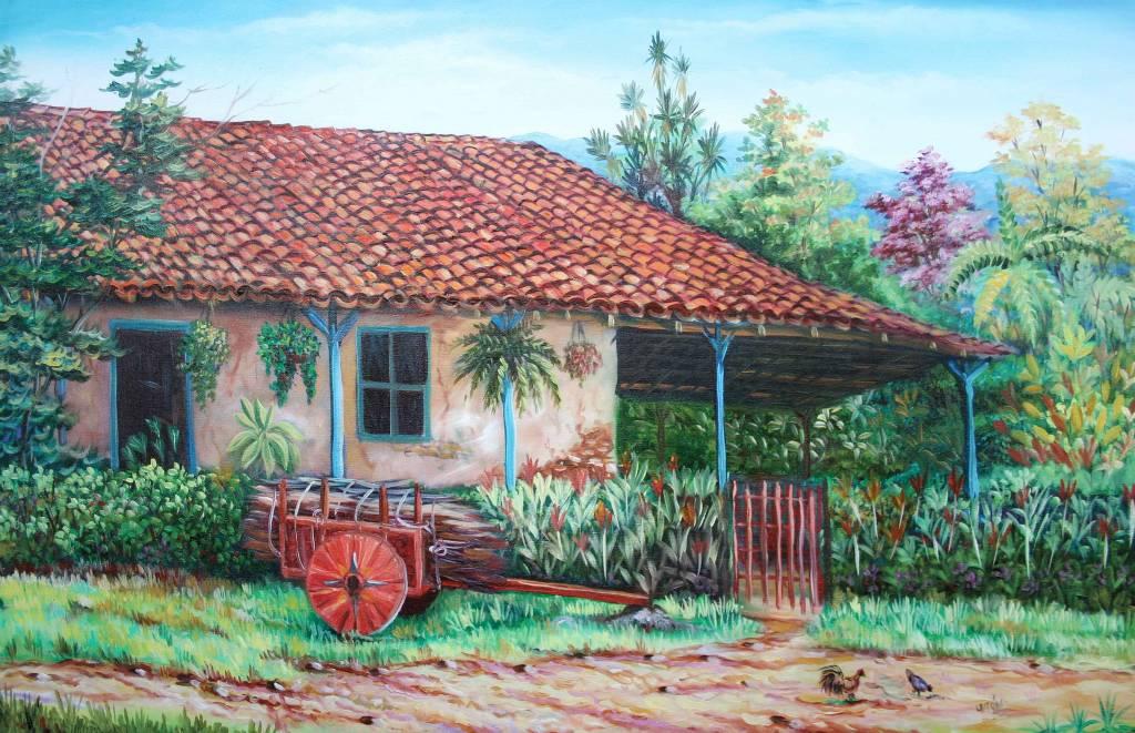 Casa tipica rafael alberto leiton montoya en - Paisajes de casas de campo ...