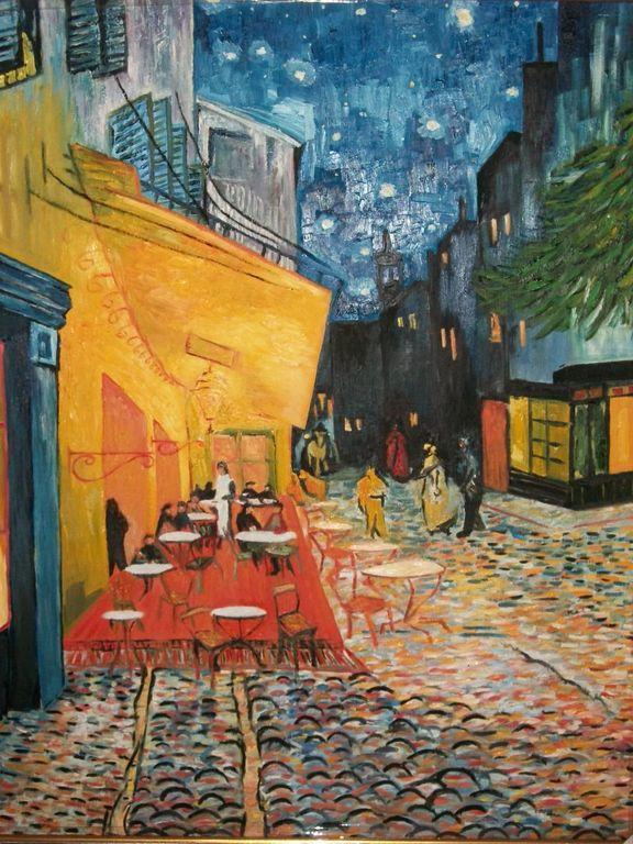 Terraza De Cafe Por La Noche Ic Ramirez Artelista Com
