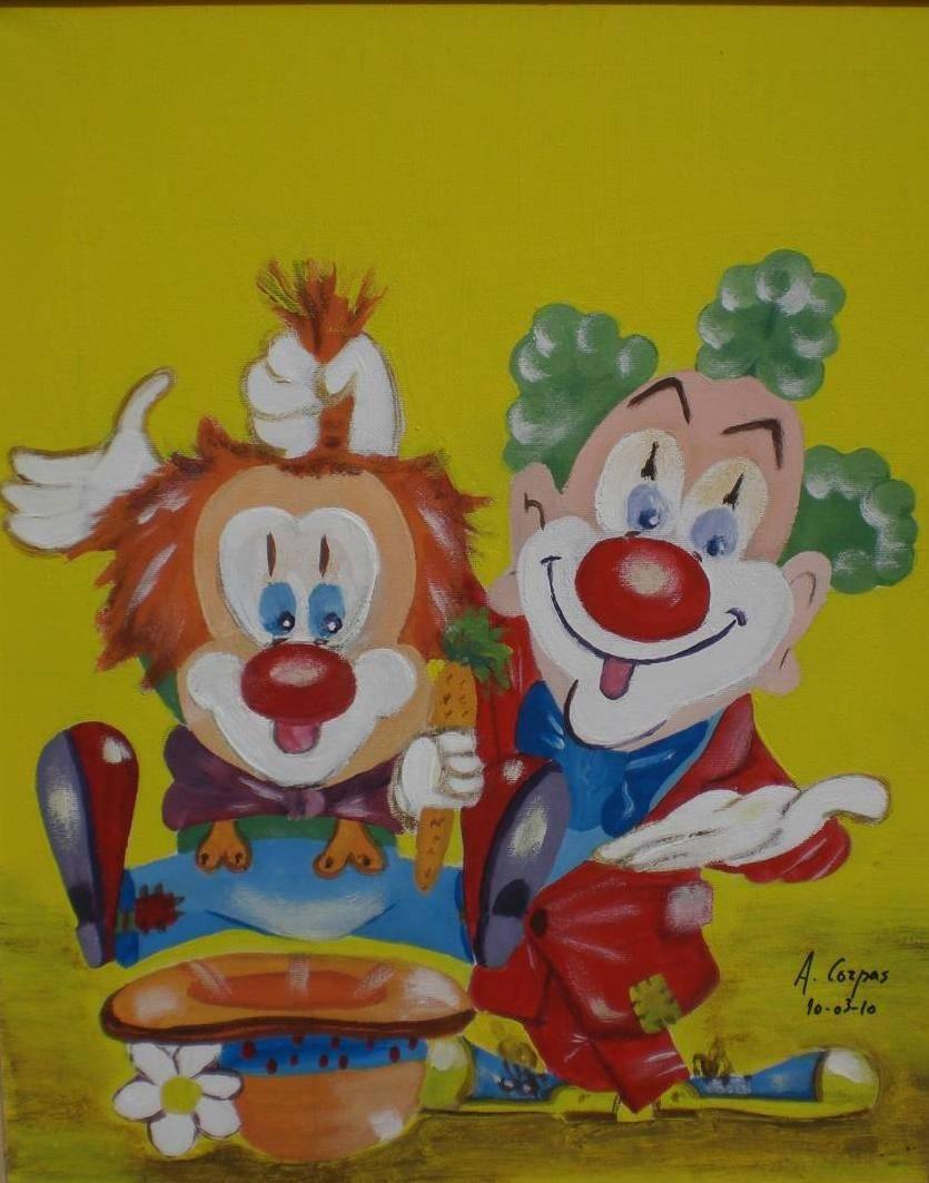 Payasos infantiles duo antonio corpas camacho for Cuadros infantiles al oleo