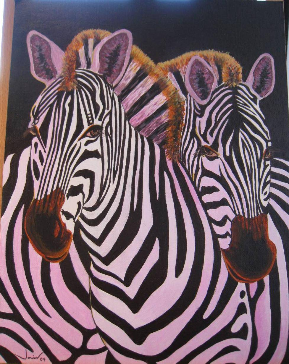 Cebras javier del castillo ar valo - Cuadros de cebras ...