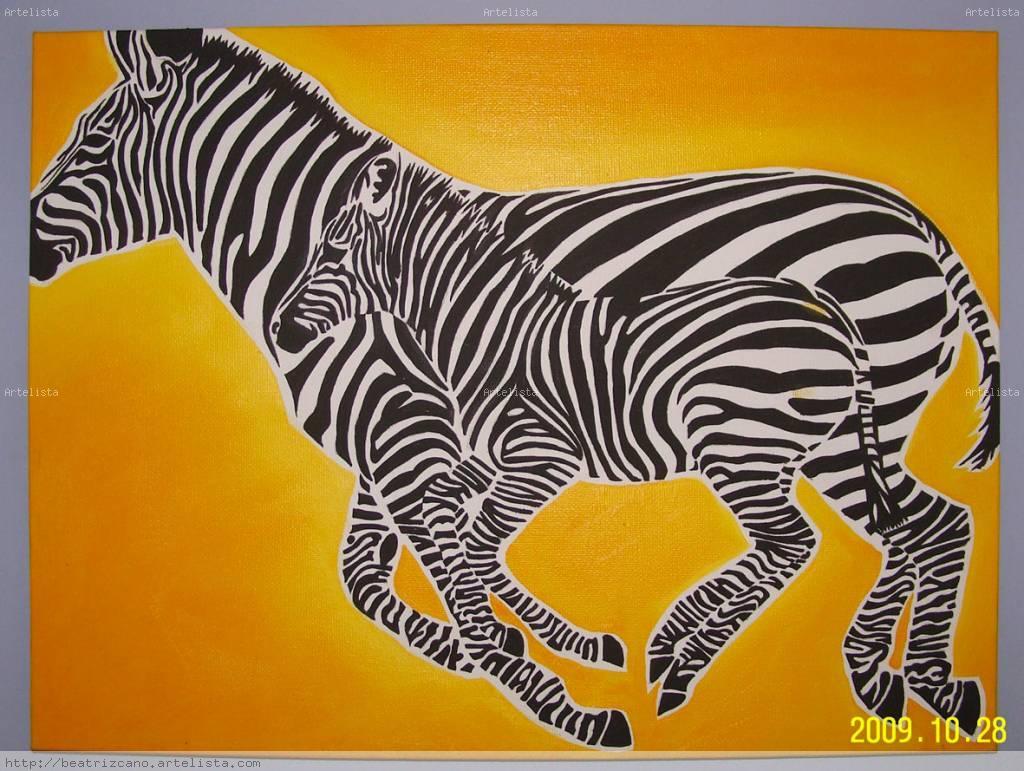 Cebras 01 beatriz cano martinez - Cuadros de cebras ...
