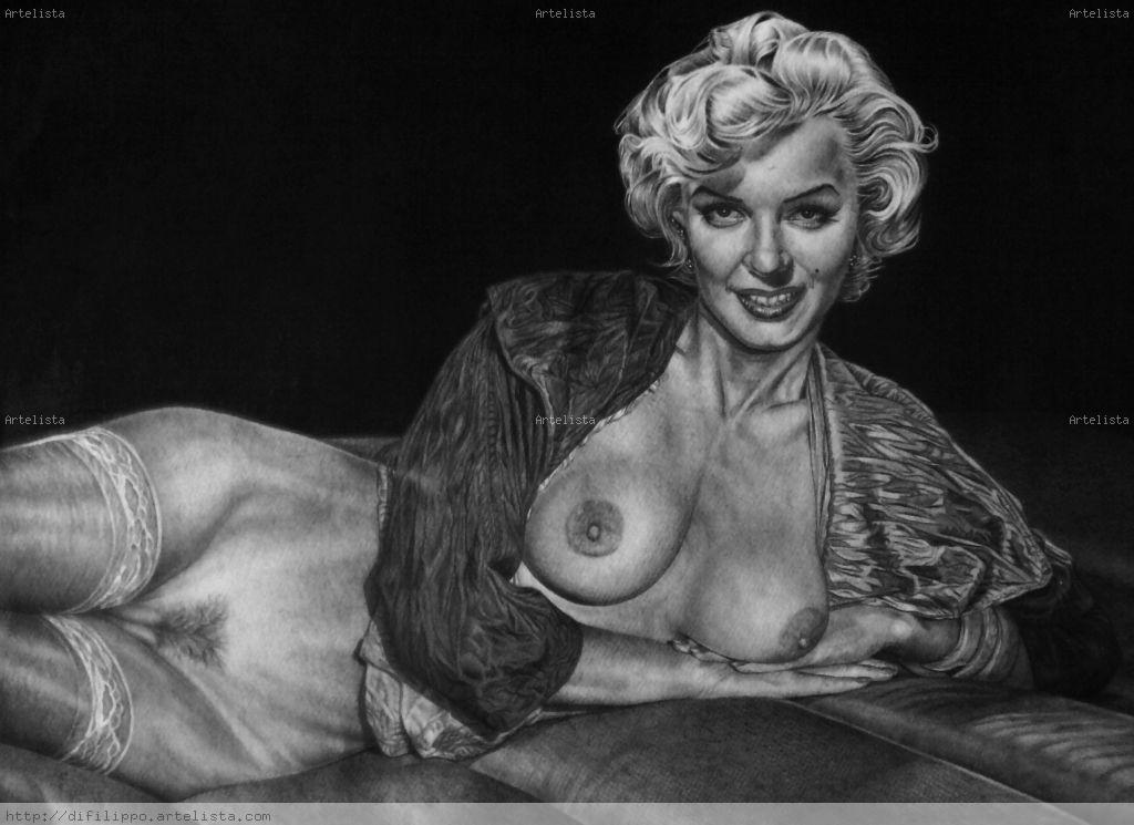 Dibujo De Marilyn Alejandro Gabriel Difilippo Artelistacom