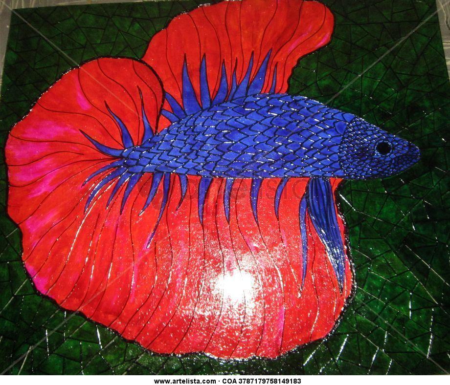 Pez betta mao botero for Pintura para estanques de peces