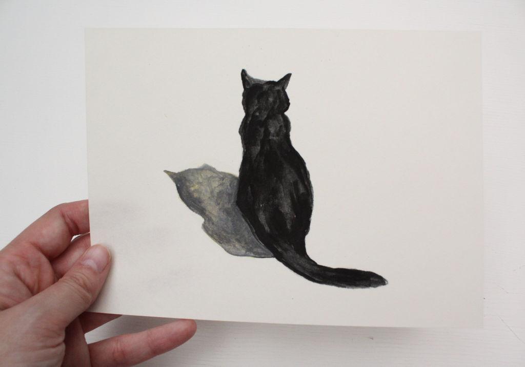 1eb5ec53c06aa gato negro y sombra Amada García Gavilán - Artelista.com