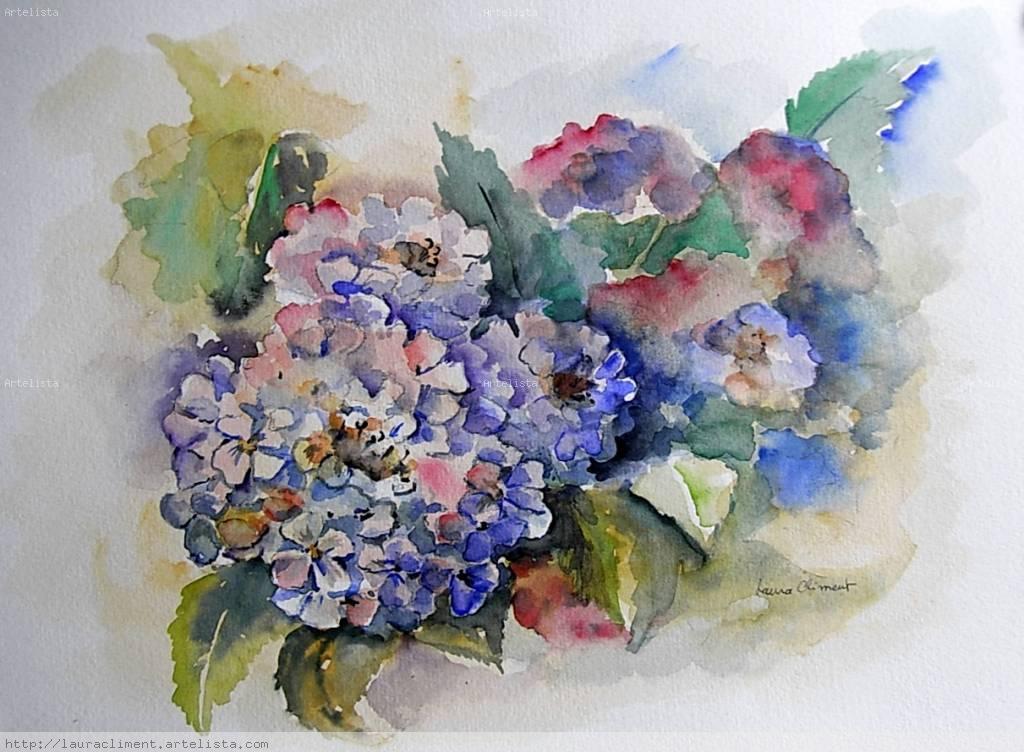 Hortensias Laura Climent Artelista Com