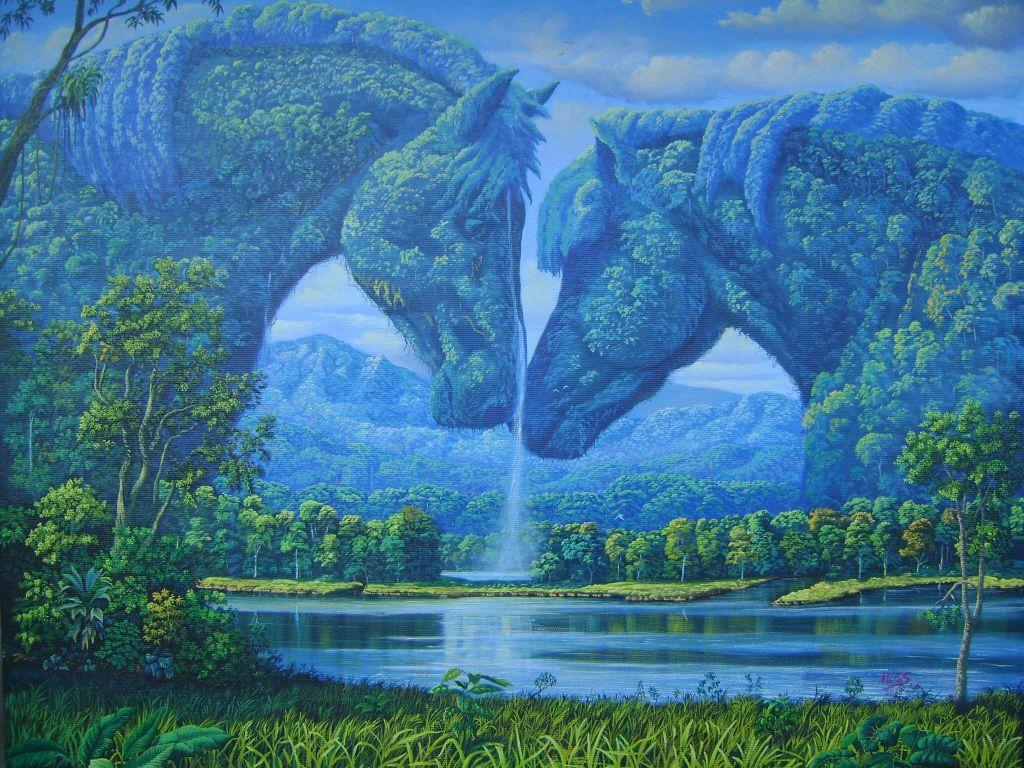 paisajes para pintar en lienzo