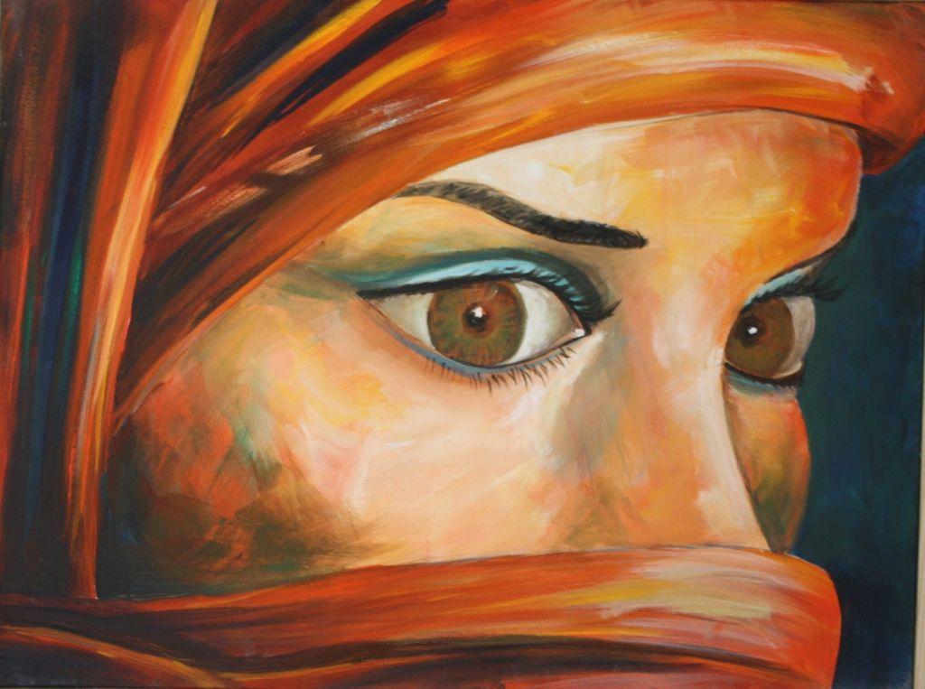 Por una mirada ana viso v zquez - Acrilico sobre lienzo ...