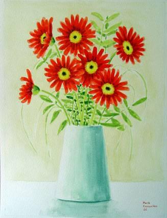 Jarrón con flores María Cavanillas - Artelista.com