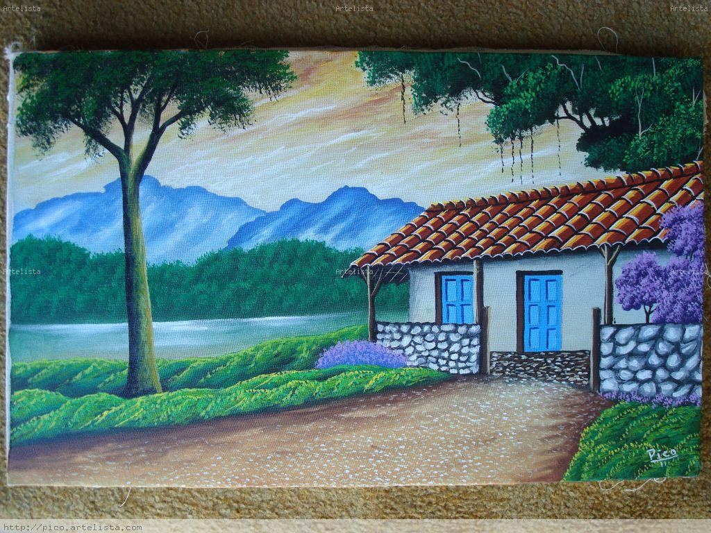 Casas viejas de costa rica pintura de pico edgar pico - Pinturas para la casa ...