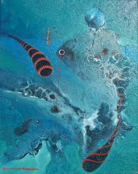 Obra del pintor Surrealista  Reyes Ocre