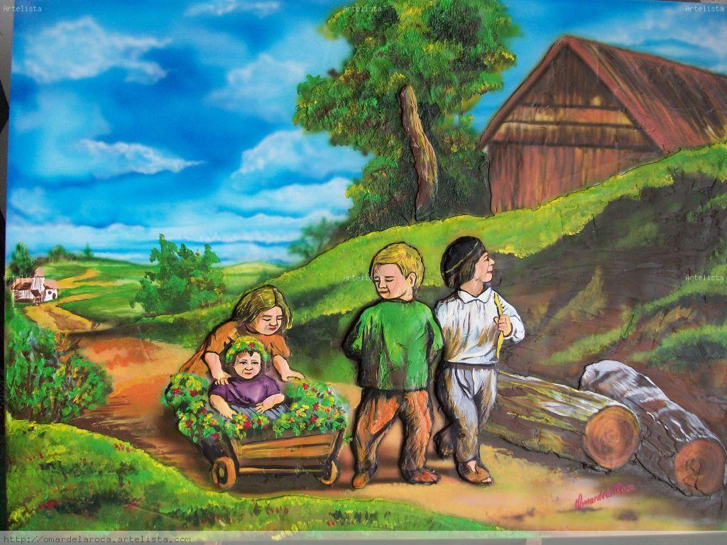 Ni os en el campo omar ivan mart nez - Como vallar un campo ...