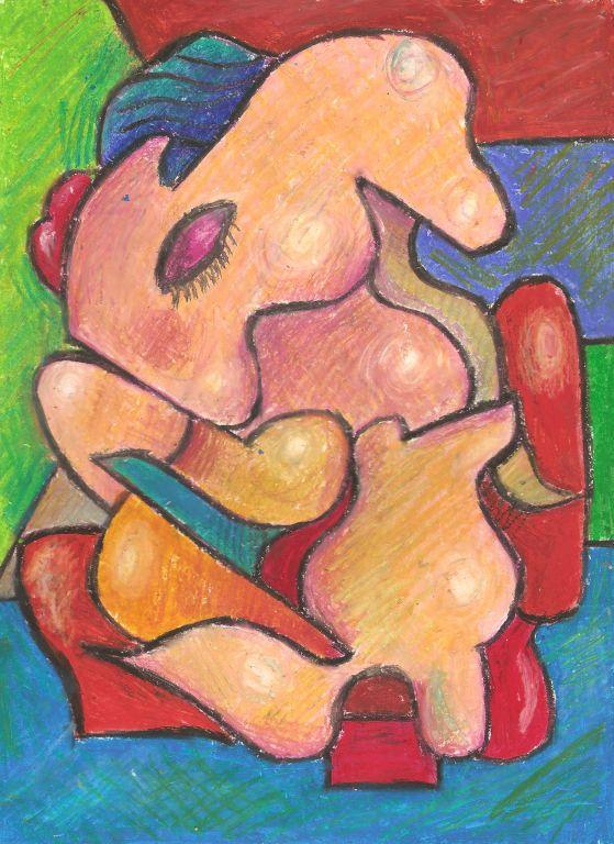 Cuadro femenino desnudo maduro