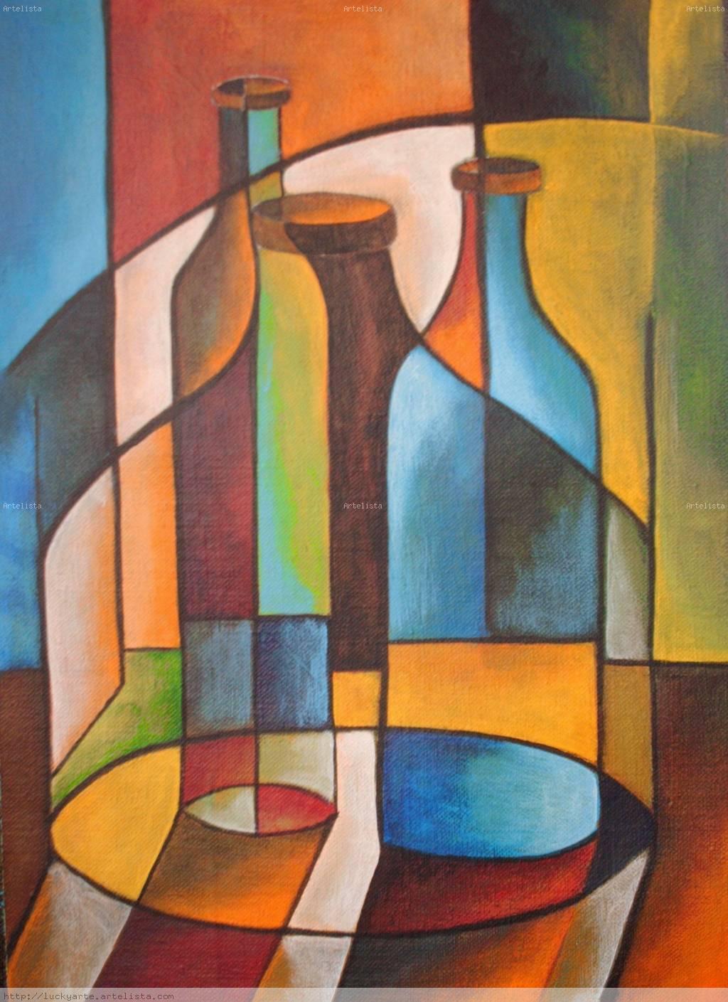 Serie cubista lucrecia santos - Decorarte pinturas ...