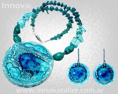 54aee6efc22a Innova diseño de accesorios en vidrio Innova joyas Bijouterie de ...