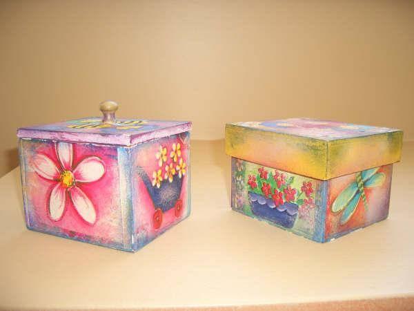 Cajas en decoupage infantiles imagui for Caja almacenaje infantil