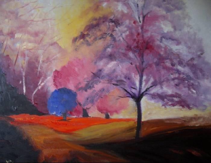 Color en el paisaje montse par s - Paisaje con colores calidos ...