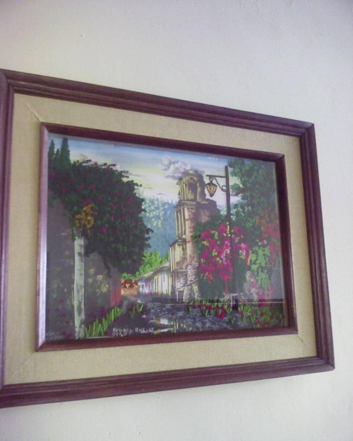 Antigua en bordado Carlos Gonzalez Batres - Artelista.com