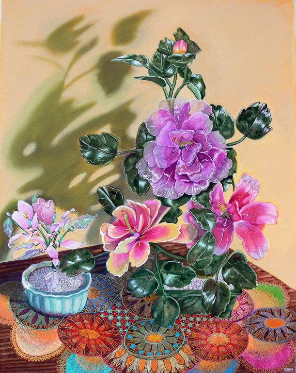 El jarr n de flores chinas de cristal alan paul isaac for Rosas chinas
