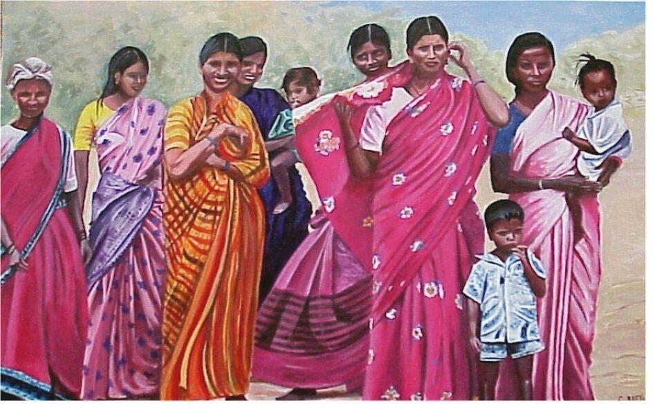Grupo De Mujeres De La India Claudia Botti Artelistacom