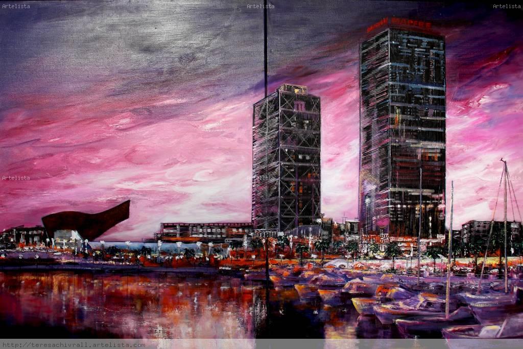 Puerto olimpico barcelona teresa chivrall for Permiso de obras barcelona