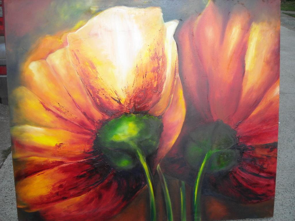 Mis Flores Alejandra Maria Rivera Otarola Artelista Com