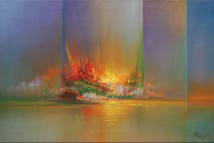 Abstracto jos moreno aparicio for Fotos de cuadros abstractos al oleo
