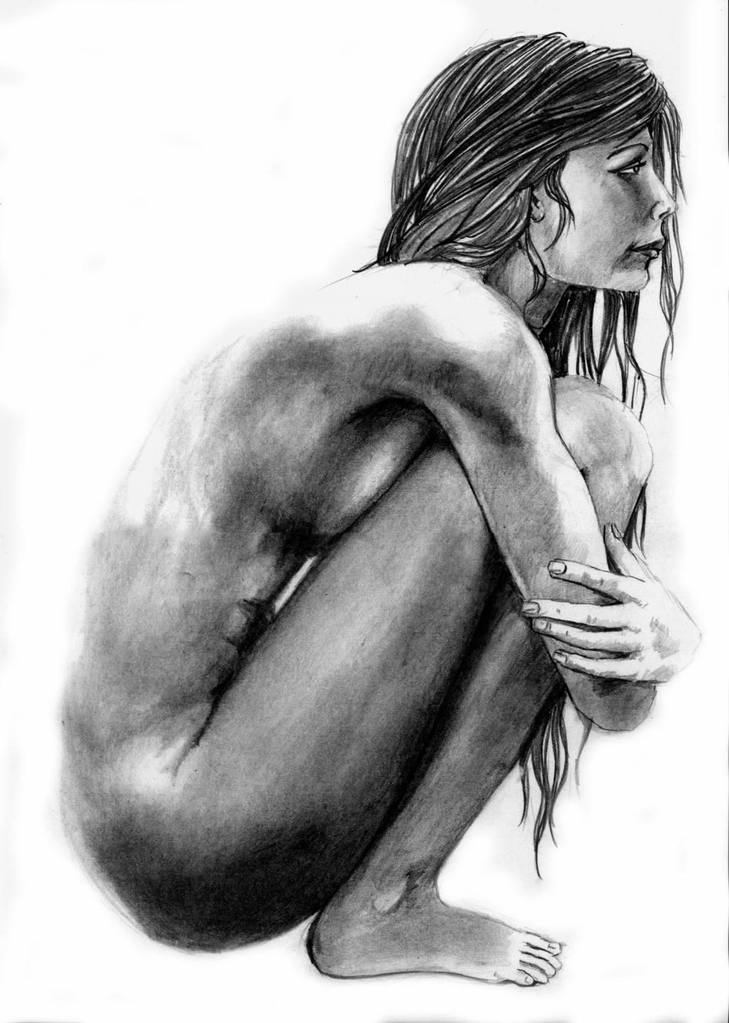 DESNUDO FEMENINO:::LAPIZ GRAFITO:::FIGURA HUMANA Manuel Concha ...