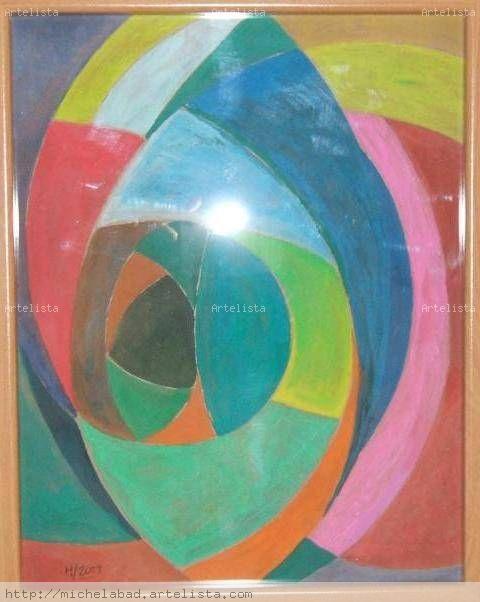 Composicion abstracta michel abad hern ndez - Cuadros pintura acrilica moderna ...