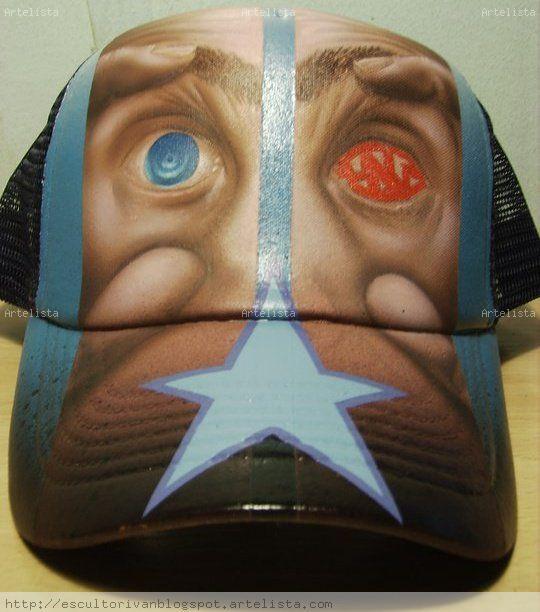 gorras pintadas a mano ivan Perez - Artelista.com 333ae703034