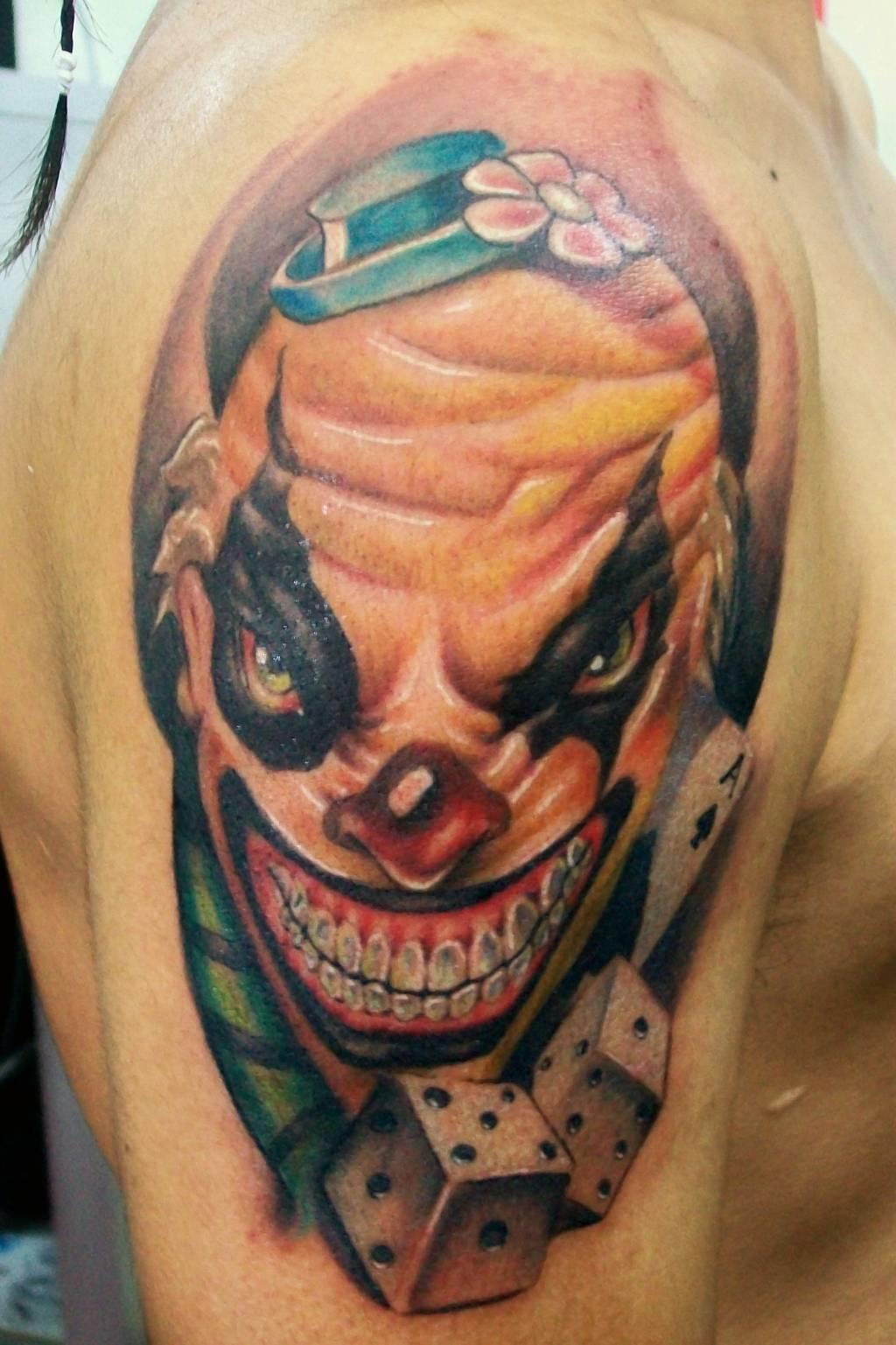 demon clown aluvha tattoo alain head en