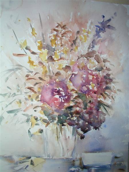 Jarrón con flores araceli g loscos - Artelista.com